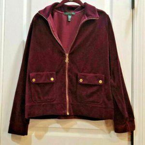 Ralph Lauren Full-Zip Mock-Neck Jacket ladies L
